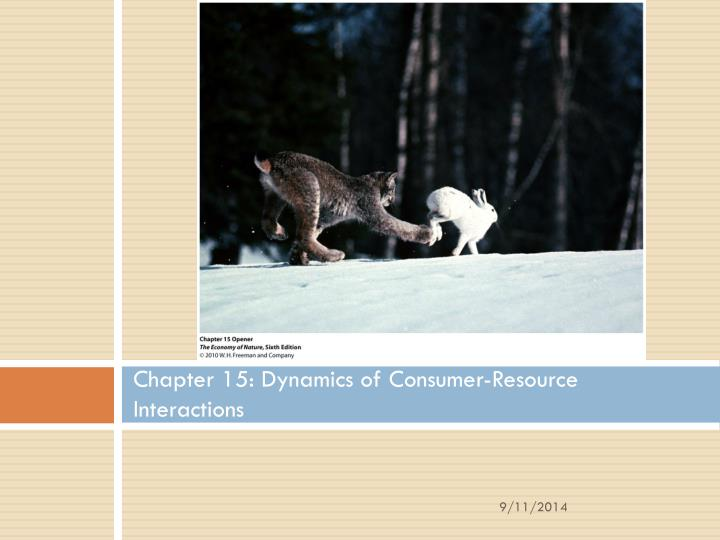 chapter 15 dynamics of consumer resource interactions