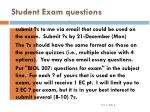 student exam questions