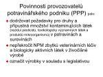 povinnosti provozovatel potravin sk ho podniku ppp pokr1