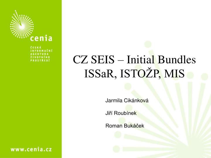 Cz seis initial bundles issar isto p mis