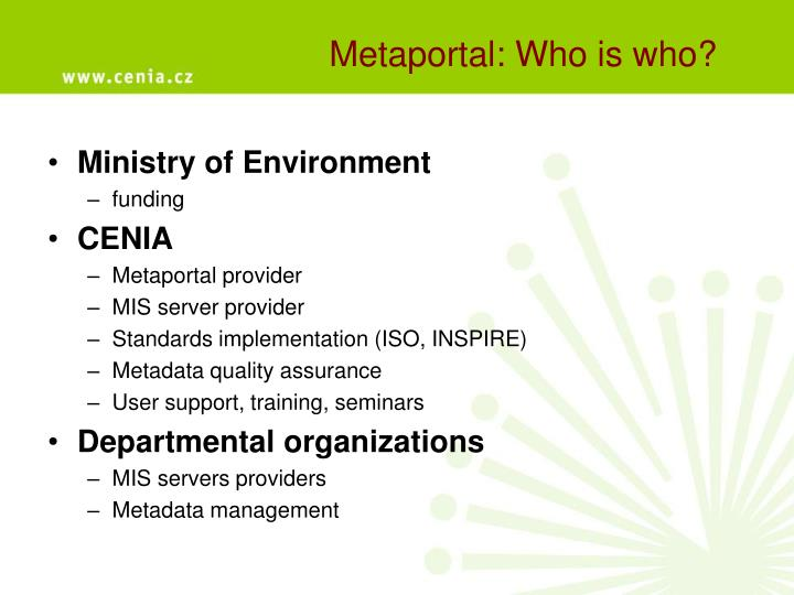 Metaportal: Who is who?
