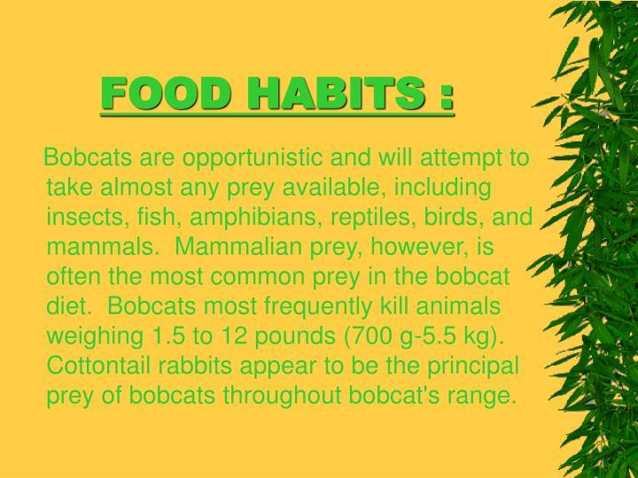 FOOD HABITS :