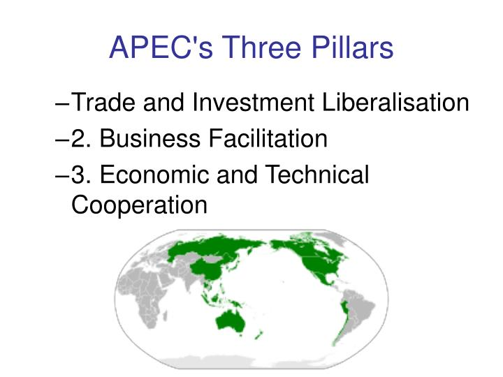 APEC's Three Pillars