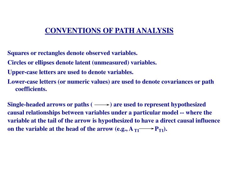 CONVENTIONS OF PATH ANALYSIS