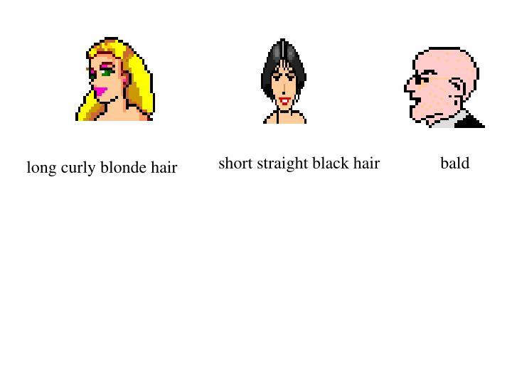 short straight black hair
