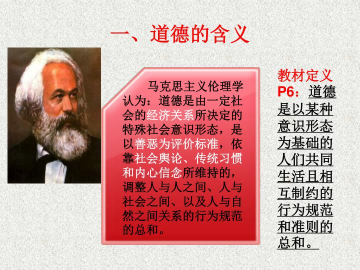 马克思主义伦理学认为:道德是由一定社会的