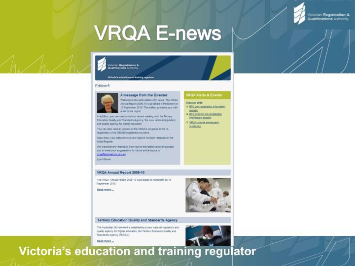 VRQA E-news