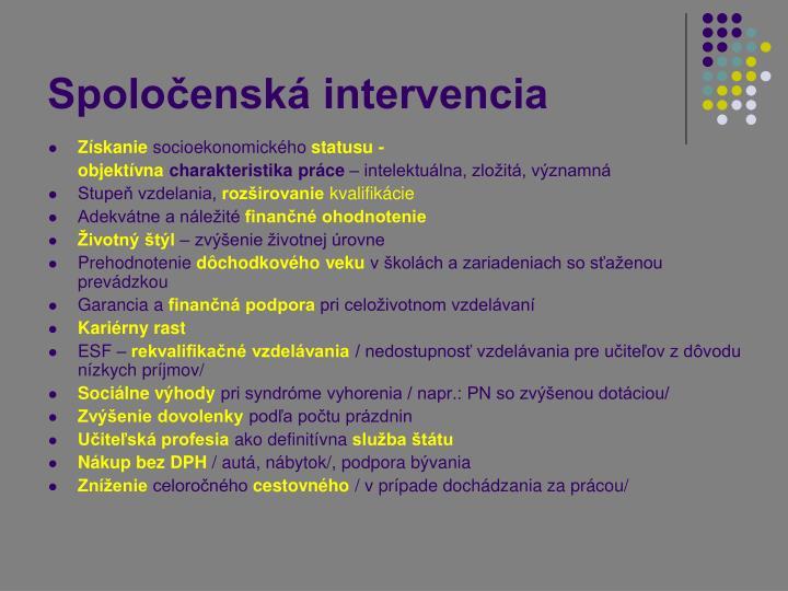 Spoločenská intervencia