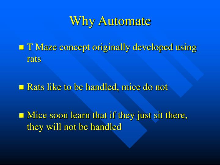 Why Automate