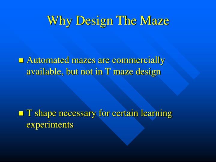 Why Design The Maze