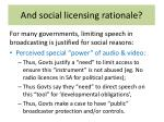 and social licensing rationale