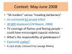 context may june 2008