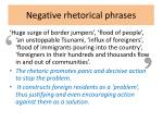 negative rhetorical phrases