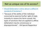 net as unique cos of its access