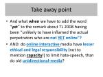 take away point1