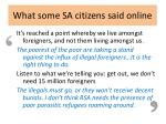 what some sa citizens said online