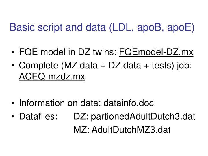 Basic script and data (LDL, apoB, apoE)