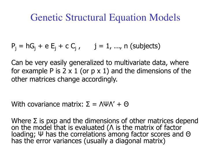 Genetic Structural Equation Models