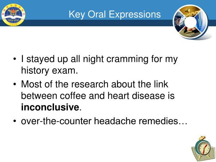 Key Oral Expressions