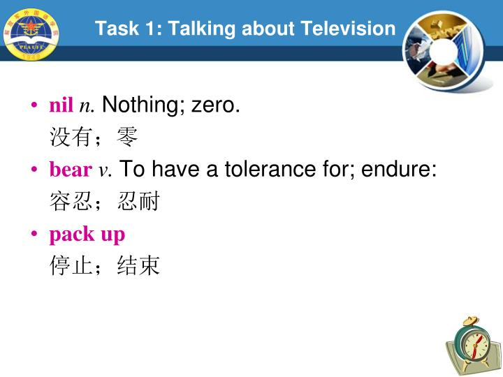 Task 1: Talking about Television