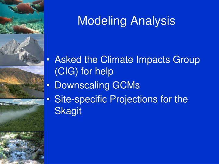 Modeling Analysis