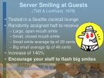 server smiling at guests tidd lockhard 1978