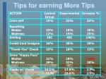 tips for earning more tips