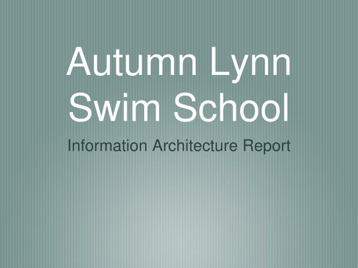 autumn lynn swim school n.