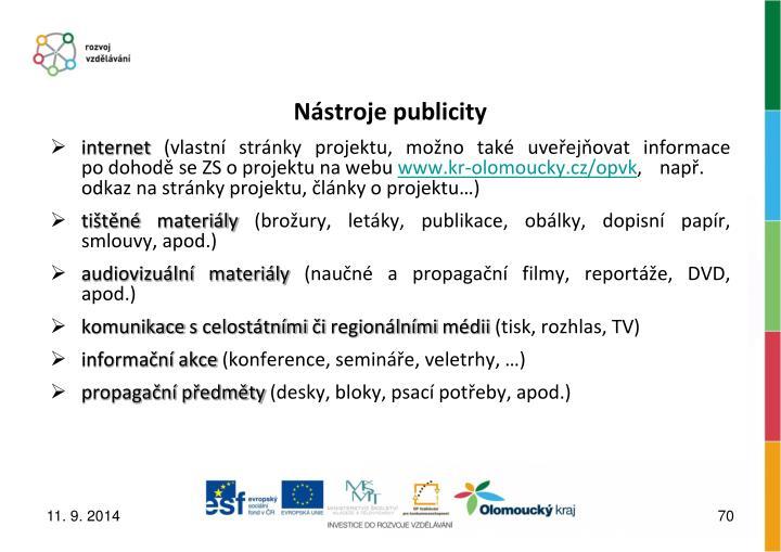 Nástroje publicity