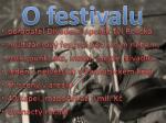 o festivalu