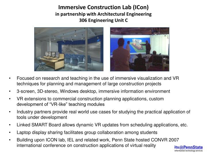Immersive Construction Lab (ICon)