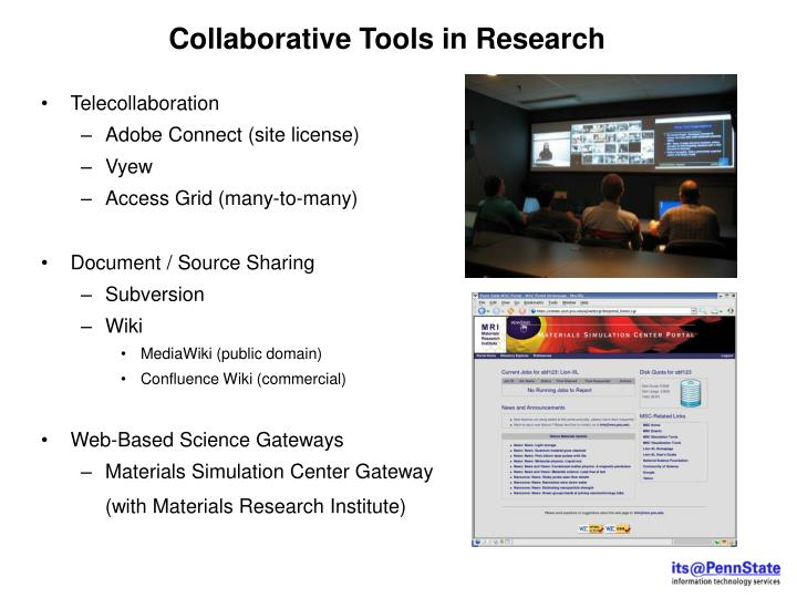 Collaborative Tools in Research