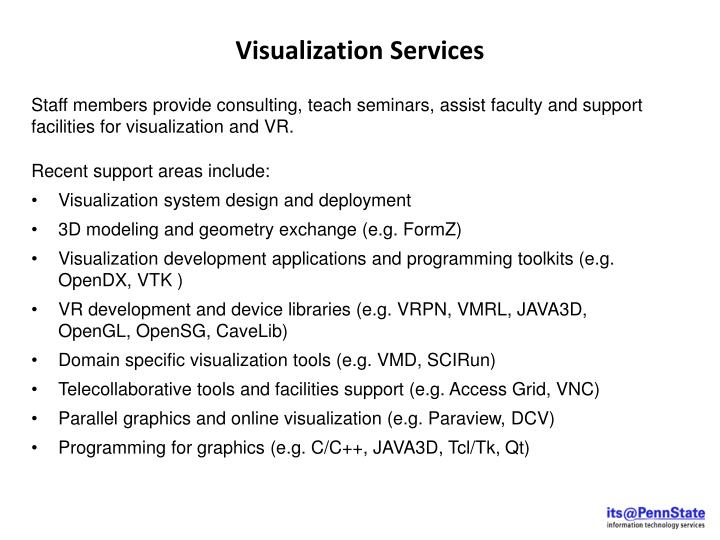 Visualization Services