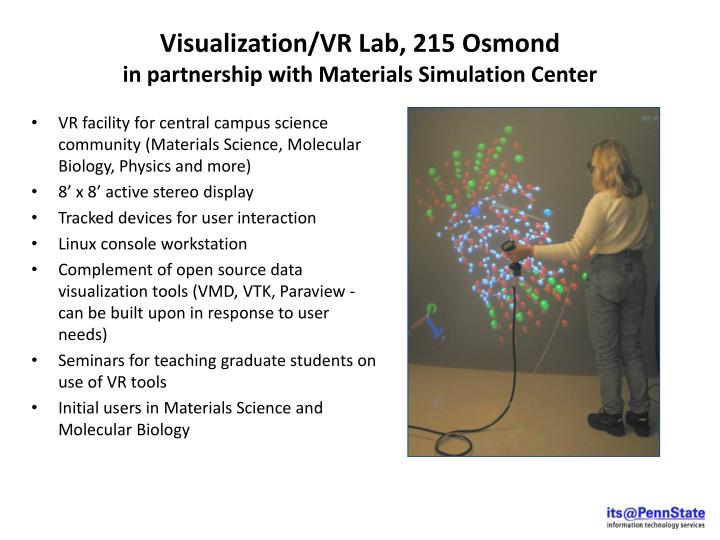 Visualization/VR Lab, 215 Osmond