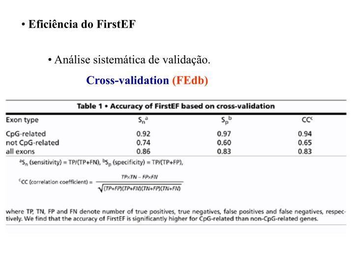Eficiência do FirstEF
