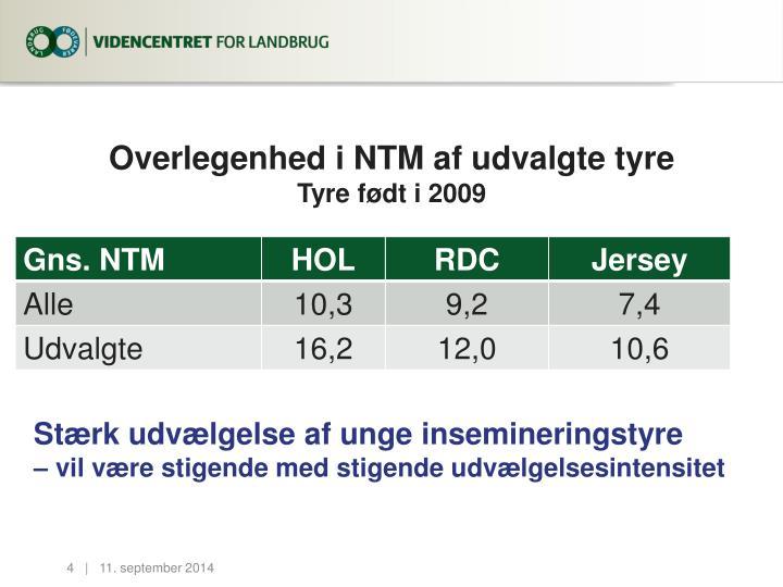 Overlegenhed i NTM af udvalgte tyre