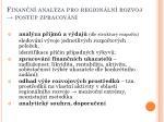finan n anal za pro region ln rozvoj postup zpracov n