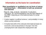 information as the basis for coordination