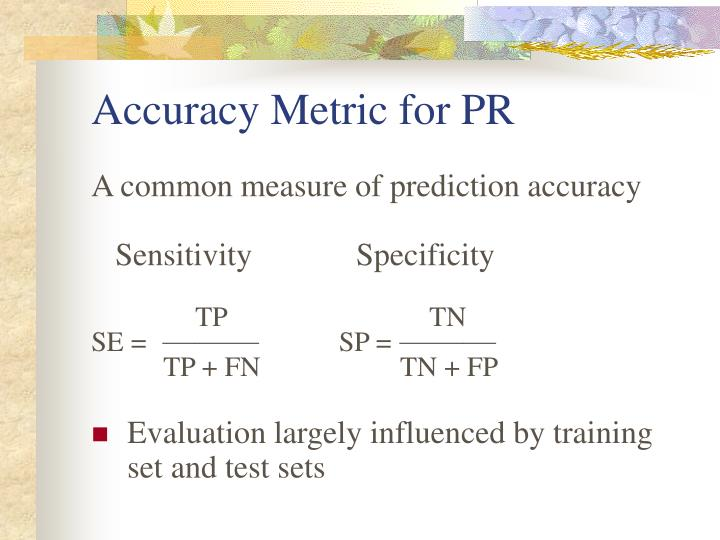 Accuracy Metric for PR