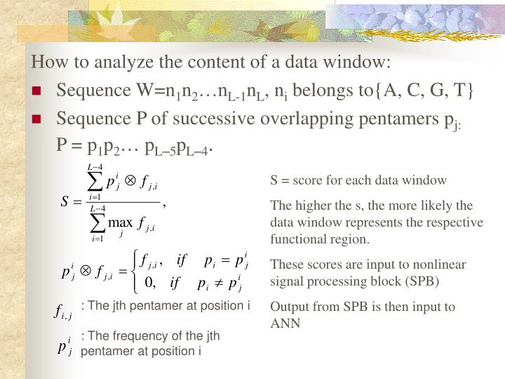 How to analyze the content of a data window: