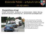 dziennik polski artyku z dnia 22 07 2011