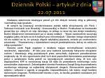 dziennik polski artyku z dnia 22 07 20111