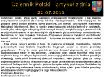 dziennik polski artyku z dnia 22 07 20112