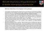 warunki eksploatacji dr g powiatowych w wietle obowi zuj cych przepis w2