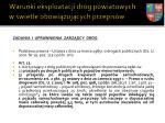 warunki eksploatacji dr g powiatowych w wietle obowi zuj cych przepis w3