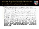 warunki eksploatacji dr g powiatowych w wietle obowi zuj cych przepis w4