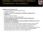 zadania i kompetencje inspekcji transportu drogowego2