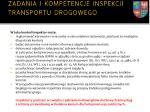 zadania i kompetencje inspekcji transportu drogowego4