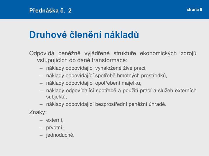 Přednáška č.  2