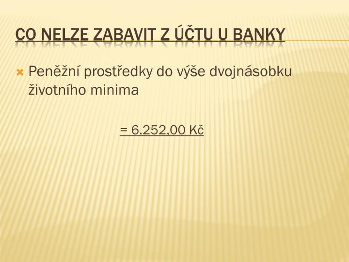Co nelze zabavit z účtu u banky
